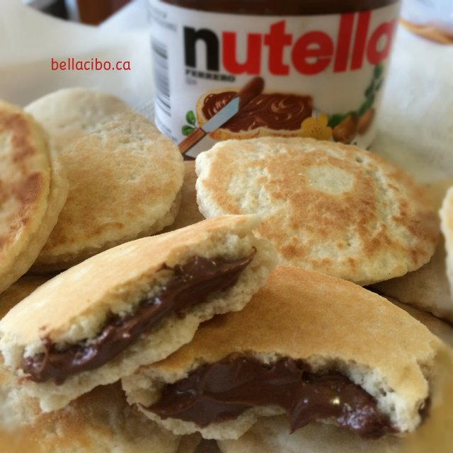 Mini Sweet Focaccias bread with Nutella